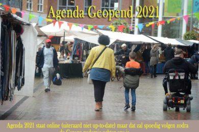Voorlopig schema Agenda 2021